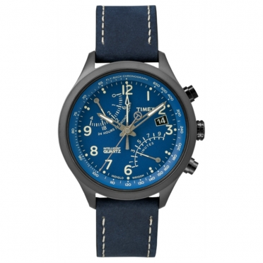 Timex outdoorhorloge IQ Fly-back Chronograph blauw T2P380