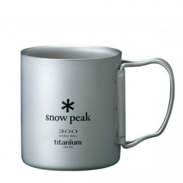 Snow Peak titanium double wall cup 300 ml folding handle (MG-052FH)