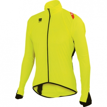 Sportful Hot Pack 5 fietsjack heren geel/fluo