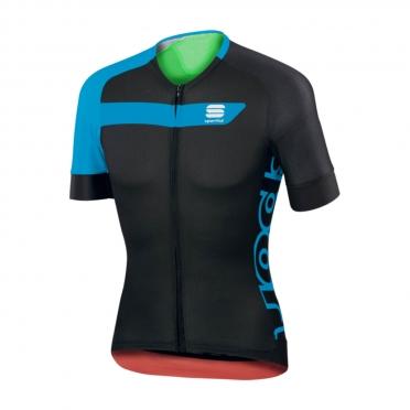 Sportful Veloce Fietsshirt zwart/blauw heren