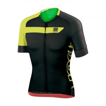 Sportful Veloce Fietsshirt zwart/geel heren
