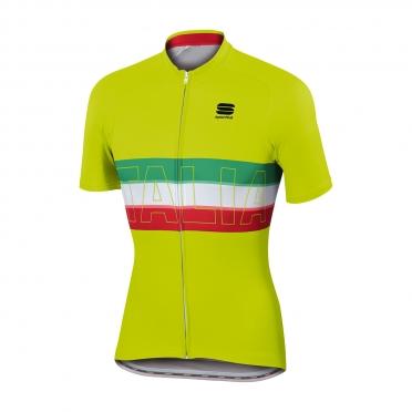 Sportful Italia fietsshirt IT geel heren