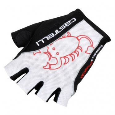 Castelli Rosso corsa classic glove wit/zwart heren