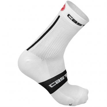 Castelli Free 9 sock wit/zwart heren fietssokken 13040-101 2015