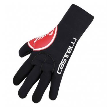 Castelli Diluvio glove zwart/rood heren 14536-123