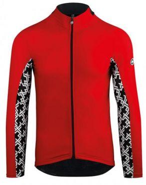 Assos Mille GT spring fall lange mouw fietsshirt rood heren