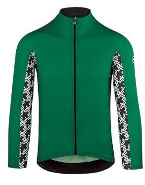 Assos Mille GT summer lange mouw fietsshirt groen heren