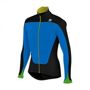 Sportful Force Thermal Jersey zwart-blauw heren 01276-274