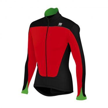 Sportful Force thermal lange mouw fietsshirt rood/zwart heren