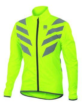 Sportful Reflex lange mouw jacket fluo geel heren
