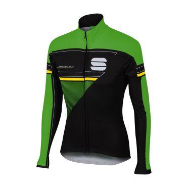 Sportful Gruppetto partial WS fietsjack zwart/groen heren