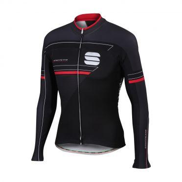 Sportful Gruppetto thermal fietsshirt lange mouw zwart heren