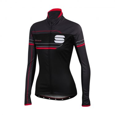 Sportful Grupetto pro W lange mouw jacket zwart/antraciet dames