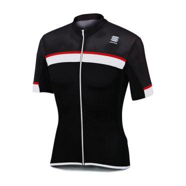 Sportful SF pista fietsshirt korte mouw zwart/wit heren