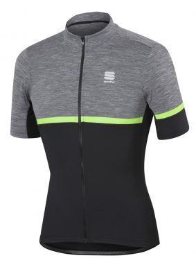 Sportful Giara jersey korte mouw fietsshirt antraciet/groen heren