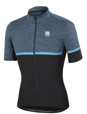 Sportful Giara jersey korte mouw fietsshirt blauw/zwart heren