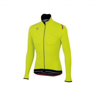 Sportful Fiandre ultimate WS lange mouw jacket fluo geel/zwart heren