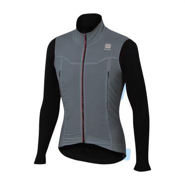 Sportful R&D strato lange mouw jacket grijs/zwart heren