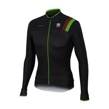 Sportful Bodyfit pro thermal lange mouw fietsshirt zwart/groen heren