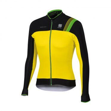Sportful Bodyfit pro thermal lange mouw fietsshirt fluo geel/zwart heren