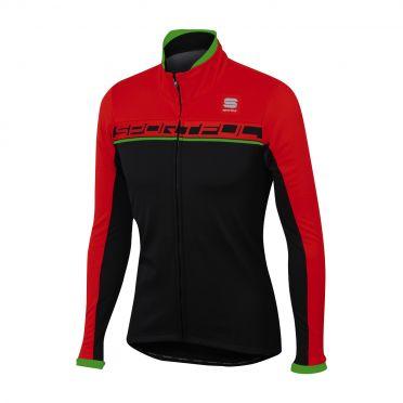 Sportful Giro softshell jacket zwart/rood/groen heren