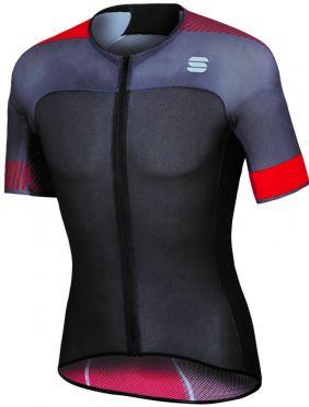 Sportful Bodyfit pro light jersey korte mouw fietsshirt zwart/rood heren