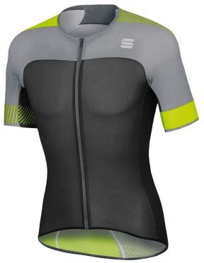 Sportful Bodyfit pro light jersey korte mouw fietsshirt zwart/fluo geel heren