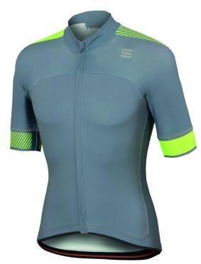 Sportful Bodyfit pro classics jersey korte mouw fietsshirt grijs/fluo geel heren
