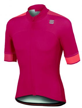 Sportful Bodyfit pro classics jersey korte mouw fietsshirt roze heren