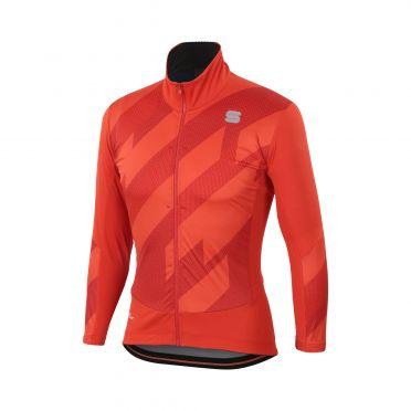 Sportful Attitude lange mouw jacket rood heren