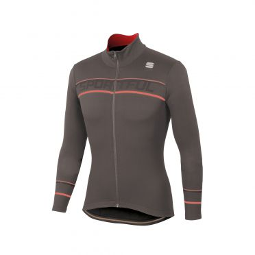 Sportful Giro thermal fietsshirt lange mouw bruin heren