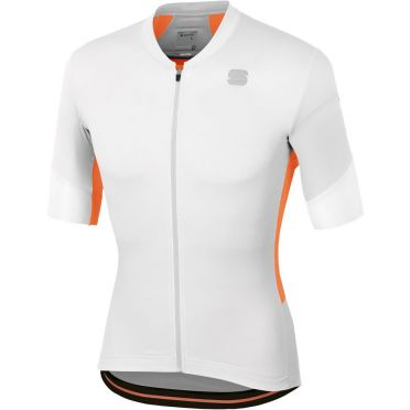 Sportful GTS jersey korte mouw fietsshirt wit/oranje heren