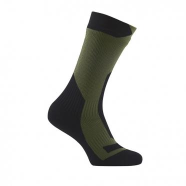 Sealskinz Trekking thick mid waterdichte sokken olijf