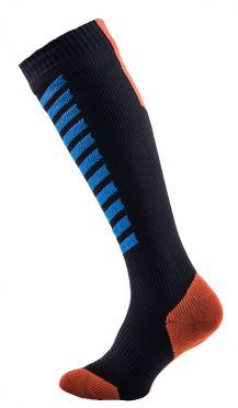 Sealskinz MTB mid knee fietssokken zwart/blauw/oranje