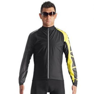 Assos IJ.milleJacket_evo7 fietsjack zwart/geel heren
