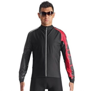Assos IJ.milleJacket_evo7 fietsjack zwart/rood heren