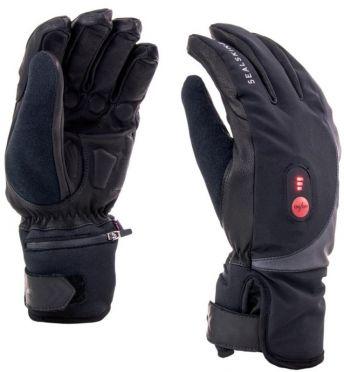 SealSkinz Cold weather verwarmde fietshandschoenen zwart/rood