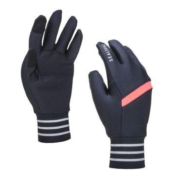 SealSkinz solo reflective handschoenen zwart/roze