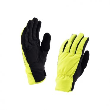 SealSkinz Brecon fietshandschoenen geel/zwart