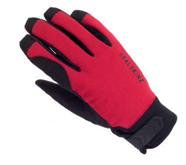 SealSkinz Dragon eye road fietshandschoenen zwart/rood