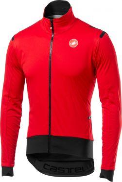 Castelli Alpha ros light fietsjacket lange mouw rood/zwart heren