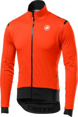 Castelli Alpha ros light fietsjacket lange mouw oranje/zwart heren