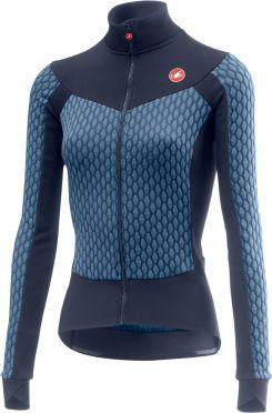 Castelli Sfida W fietsshirt lange mouw blauw dames