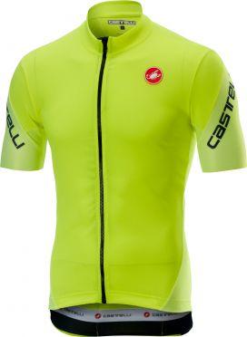 Castelli Entrata 3 FZ fietsshirt korte mouw fluo geel heren