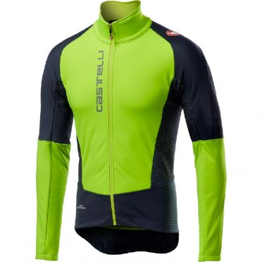 Castelli Mortirolo V jacket geel/zwart heren