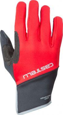 Castelli Scalda Pro glove fietshandschoenen zwart/rood heren