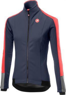 Castelli Mortirolo 3 W lange mouw jacket donkerblauw dames
