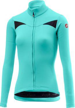 Castelli Sinergia fietsshirt lange mouw blauw dames