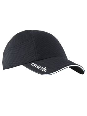 Craft Running cap hardloop pet zwart