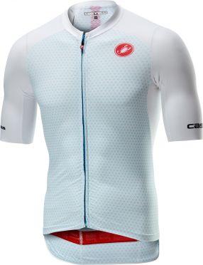 Castelli Aero race 6.0 FZ korte mouw shirt wit heren
